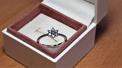 Pandora Forget Me Not Ring. Sterling Silver S925 ALE