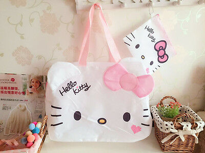 Hello Kitty Head Travel Foldable Luggage Bag Carry-On Duffle Bag KK938