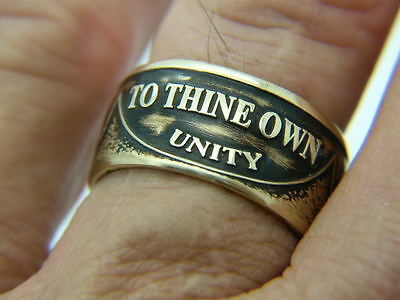 AA (Alcoholics Anonymous) token, sobriety coin ring