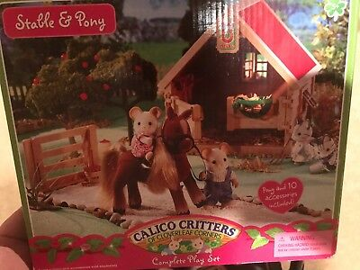 Calico Critters Sweetbriar Stable and Pony Set #CC1496 Retired New in Box