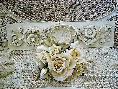 Shabby French Shell Pediment Architectural Header *hang Over A Mirror Or Door*