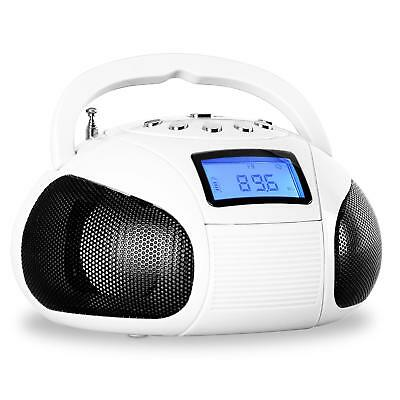 Imperdibile! Oneconcept Bamboobox Mini Radio Fm Usb Sd Bluetooth Aux Bianca!