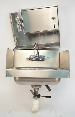 Advance Tabco 7-PS-40 Commercial Hand Sink w/ Towel and Soap Dispenser Mount