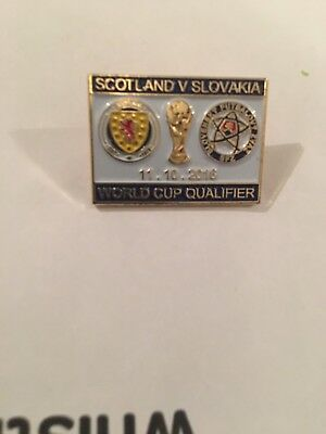 Scotland V Slovakia World Cup Match Badge