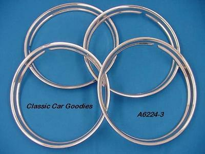 """Trim Rings Classic 14"""" Polished Stainless (4) Street Rod"""