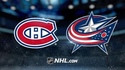 2 Tickets 313CC Montreal Canadiens vs Blue Jackets, nov. 14, 2017, Bell Center
