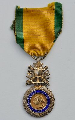 France: French Military Medal Early 1900 Silver Gilt