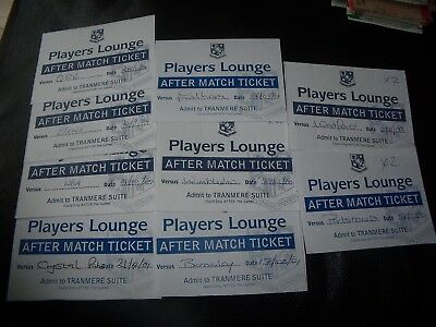 9 tranmere player lounge tickets 2000/01