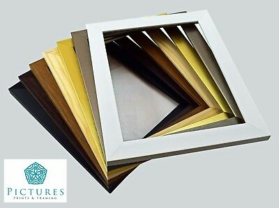 Photo Frames Picture Frame Modern Square 28m Black White Gold Silver Oak  Walnut