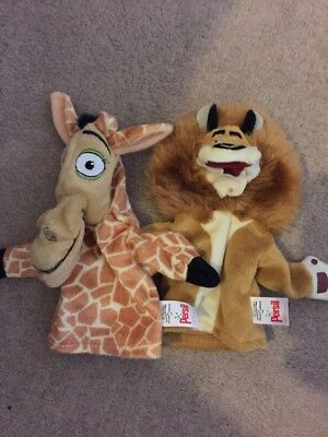 2 Madagascar Hand Puppets Persil Alex The Lion And Giraffe