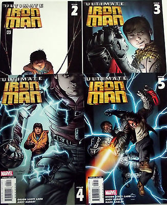 ULTIMATE IRON MAN 2,3,4,5...NM-...2005-6...Andy Kubert...Bargain!