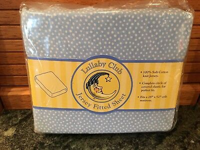 "Vintage Lullaby Club JERSEY FITTED CRIB SHEET, fits 28"" x 52"" brand new!"