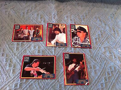 "Nos 1996 ""alabama Band"" Fan Club Set Of Five (5) Collector's Cards"