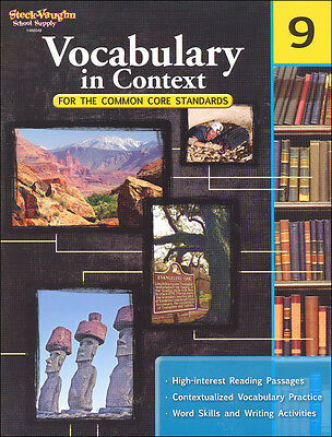 Grade 9 Vocabulary in Context Workbook +Answer Key Homeschool 9th Common Core