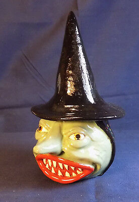 Halloween Witch Jug - Spice Caddy - Face Jug