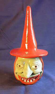 THE RED HAT HALLOWEEN WITCH - Face Jug