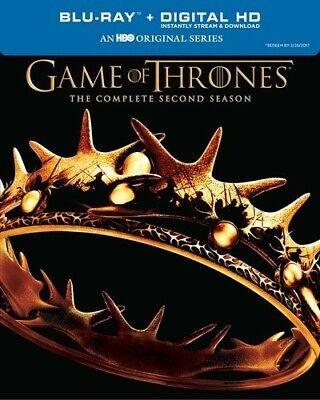 Game of Thrones: The Complete Second Season Blu-ray, 2014, 5-Disc Set (dv1331)