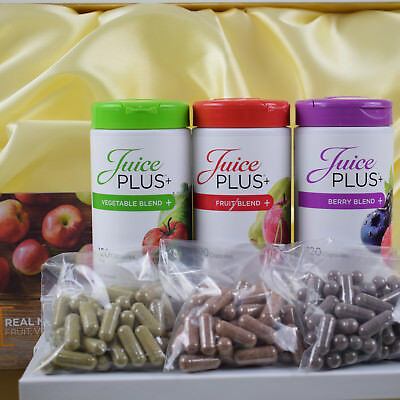 Juice Plus Premium Berry Fruit Vegetables Omega Blend Capsules Free UK Delivery