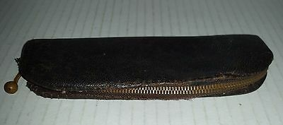 Vintage small leather case possibly a German spectacles glasses holder
