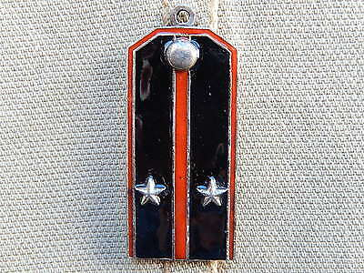 Russian Imperial Army Pendant Enamel Military Badge Sterling Silver 84