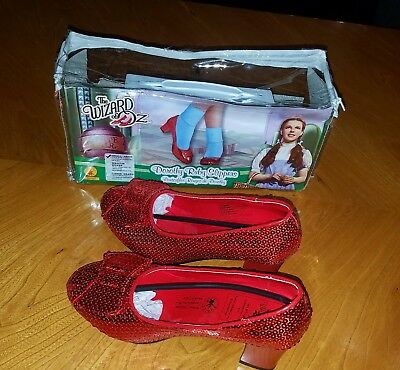Wizard Of Oz Dorothy's Red Ruby Slipper's -Sequinned -Womans Size Small 6 - BNIP