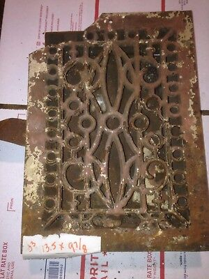 Square Cast Iron wall Floor Register Heat Grate antique vintage  louvered #j3