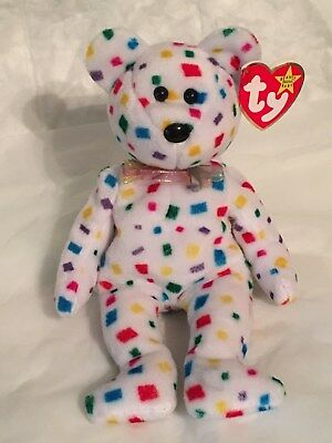 TY Beanie Baby - TY 2K the Colorful Bear - with Tags - RETIRED