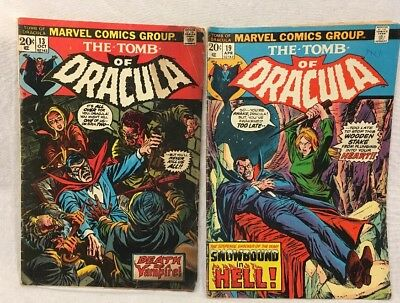The Tomb Of Dracula No.4,11,14,19 Origin And Second Appearance Of Of blade VG-