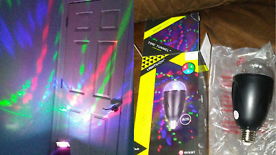 Gemmy Lightshow Time Tunnel Led Light Bulb Red Green Blue Swirl Party Halloween