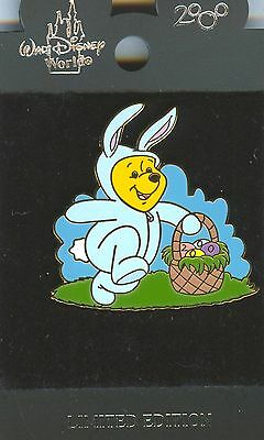 WDW Easter Bunny Winnie the Pooh 2000 with Easter Basket Pin MOC!