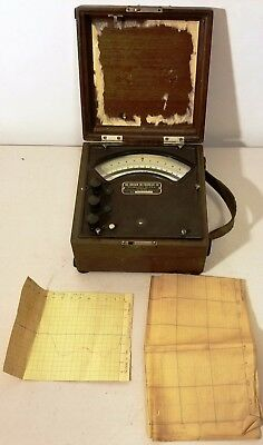 Vintage -Brown Instrument Company -D.C. Millivolts Meter, -Great-UN-Tested-READ