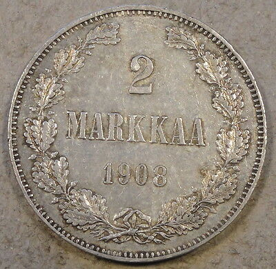 Finland Under Russian Occupation 1908 Two Markka Nice AU As Pictured