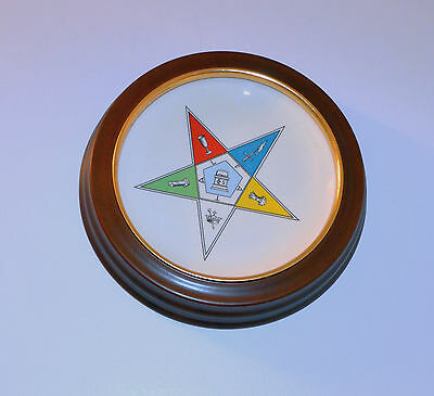 Vt Plate & New Round Frame Fraternal Order Of The Eastern Star Masonic F.A.T.A.L