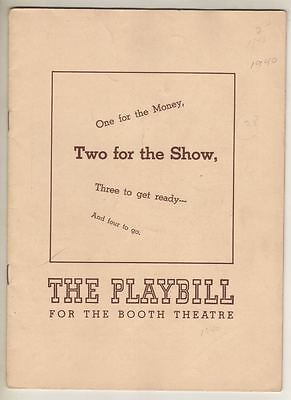 """""""Two For The Show""""  Playbill 1940  Betty Hutton  (DEBUT) Alfred Drake, Eve Arden"""