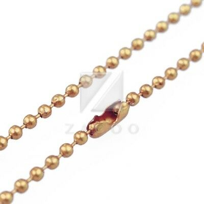 1 Strand 70cm/28inch U Pick Ball Chain Necklace Bead Connector 1.5mm Light gold