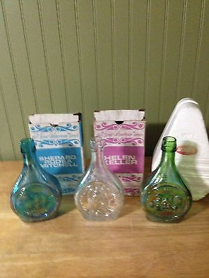 Vintage Wheaton Carnival Glass Collectible Bottles (3)