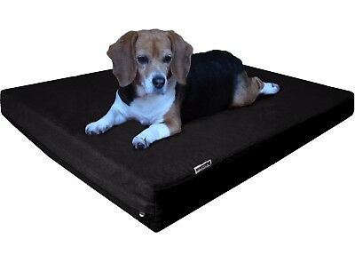 Orthopedic Memory Foam Pet Bed for Medium to Extra Large Canvas Waterproof Cover