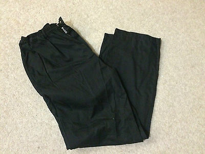 Very Good Condition Ex-Rental Black Chefs Trouser, Select Size, Xs To Xxxl