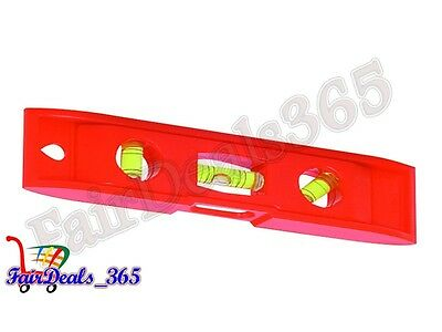 Heavy Duty 3 Vials Magnetic Torpedo Level 20Cm, Magnetic Base With Plastic Body