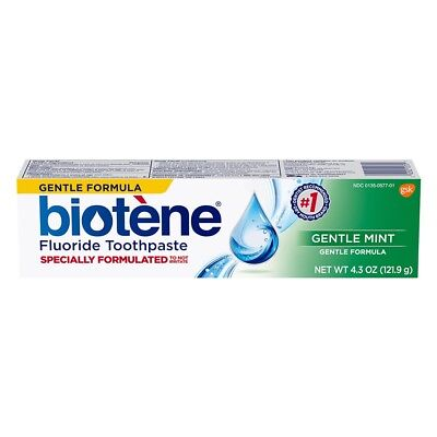Biotene Gentle Mint ToothPaste 4.3 oz dry mouth