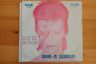 Rare David Bowie Drive In Saturday RCA Import Portugal 7in 1973 MONO NM SLV EX