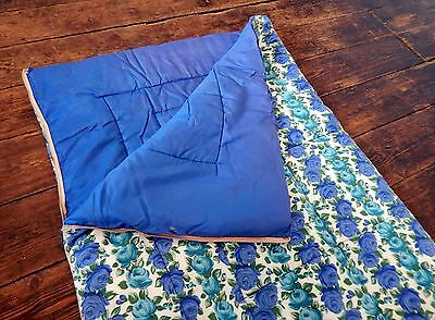 Vintage Retro Mid Century Flower Power 60s 70s Single Sleeping Bag Camper Van