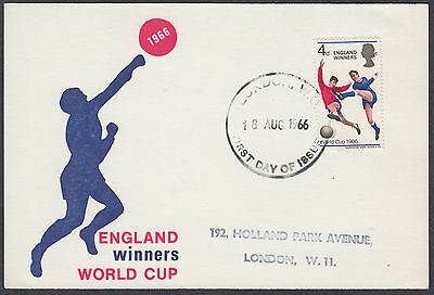 1966 World Cup Winners extremely scarce Maximum Card 'FDC'; London WC FDI; Fine