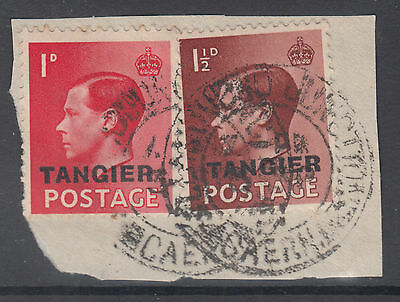 KEVIII Tangier O/P; Llandudno Junction/Caerns CDS on PIECE