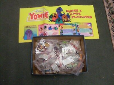 Rare Yowies  Series 4 Full Set Of 50 All Papers Intact+Poster