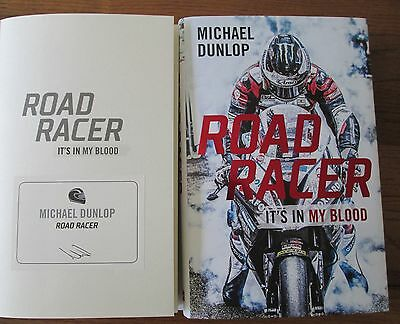 Michael Dunlop Book Signed via publisher's bookplate Road Racer Isle of Man TT