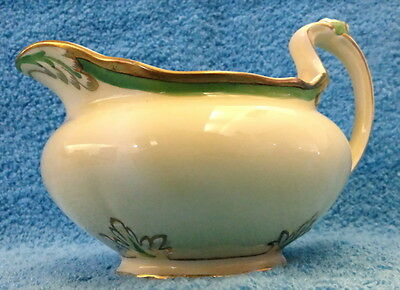 Royal Venton Ware Gravy Boat Yellow With Green  & Gold Trim