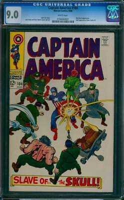Captain America # 104  Slave of the Red Skull !   CGC 9.0 scarce book !
