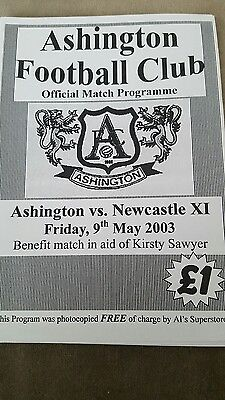 Ashington v Newcastle United x1 2003