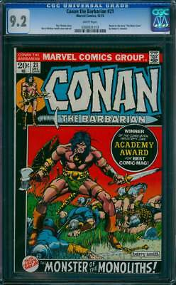 Conan the Barbarian # 21  The Monster of the Monoliths !  CGC 9.2 scarce book !